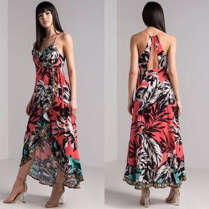 Fashion Nova High Low Wrap Maxi Dress Size XS